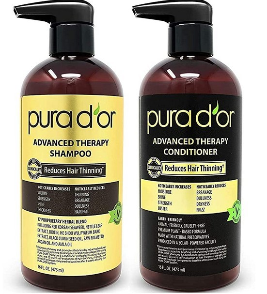 PURA D'OR Advanced Therapy System best shampoo for bald head